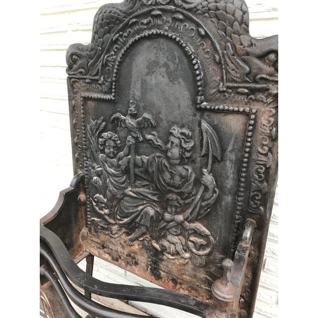 Cast Iron Coal Fireback For Sale - Image 5 of 7