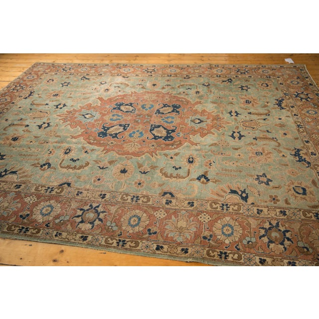 """Shabby Chic Vintage Distressed Tabriz Carpet - 8'5"""" X 10'7"""" For Sale - Image 3 of 12"""