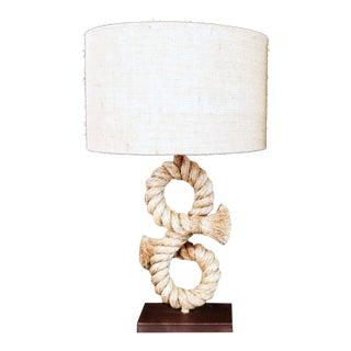 1990s Anthony Barata Nautical Modern Seafarer's Knot Table Lamp