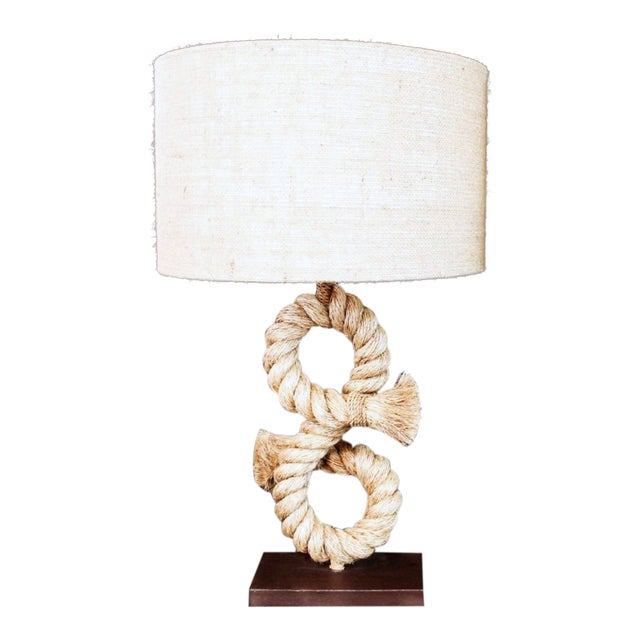 1990s Anthony Barata Nautical Modern Seafarer's Knot Table Lamp For Sale