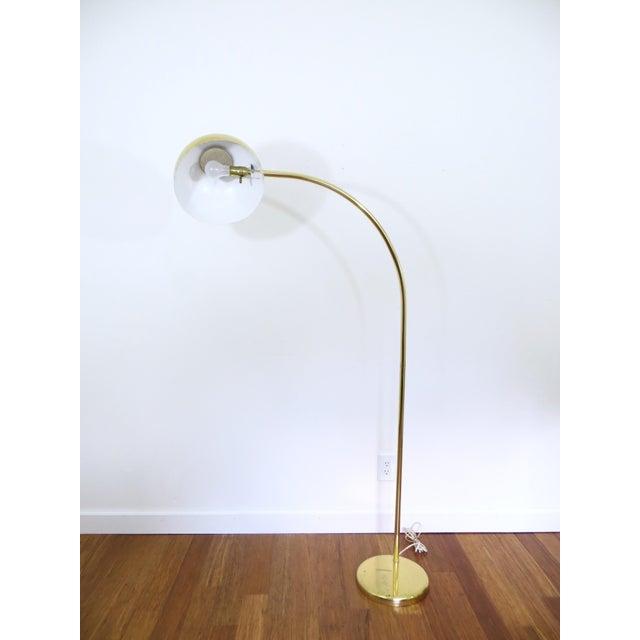 Vintage Brass Arc Floor Lamp - Image 4 of 7
