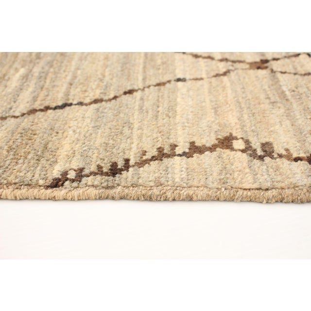2010s Moroccan Style Hand-Knotted Rug For Sale - Image 5 of 9