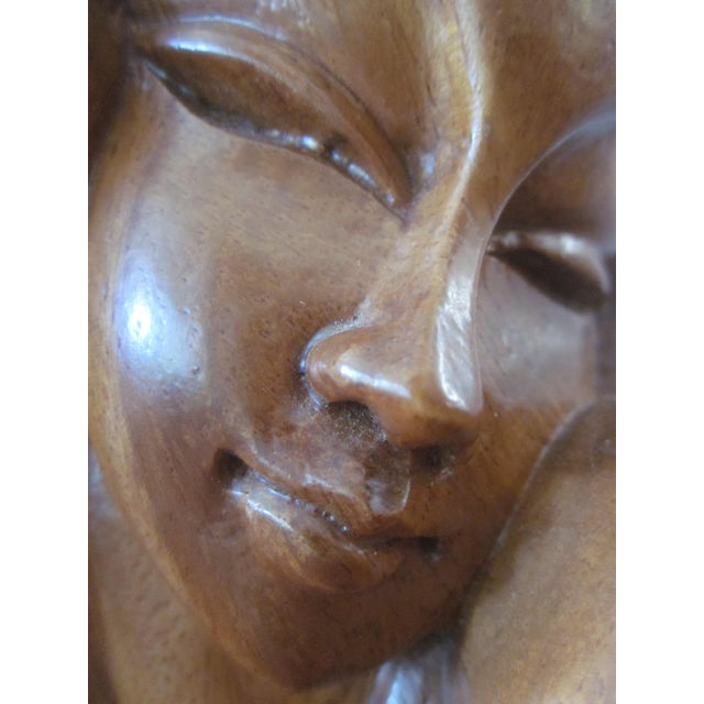 Alii Tiki Modernist Abstract Carved Wood Sculpture - Image 9 of 11