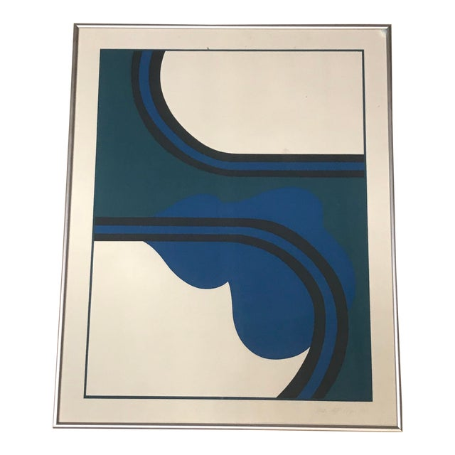 1970 Abstract Silkscreen of Una by Judith Azur For Sale