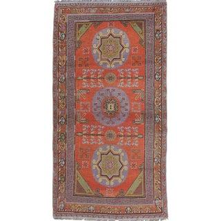 1920s Vintage Khotan Long Rug - 4′5″ × 8′5″ For Sale