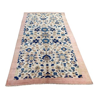 1980s Wool on Wool Faded Handmade Rug - 5′3″ × 9′7″ For Sale