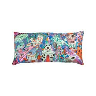 """Animapolis"" Hermès Silk Scarf Pillow For Sale"