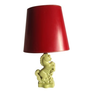Gonder Mid-Century Modernist Rearing Horse Pottery Table Lamp For Sale