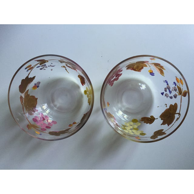 Vintage Grape Vine Crystal Bowls - A Pair - Image 3 of 5