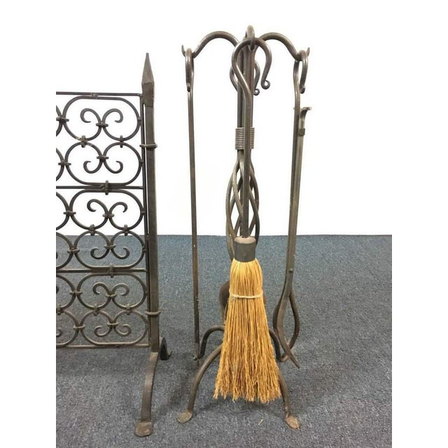 Fireplace Scroll Rack and Tools - A Pair - Image 3 of 5