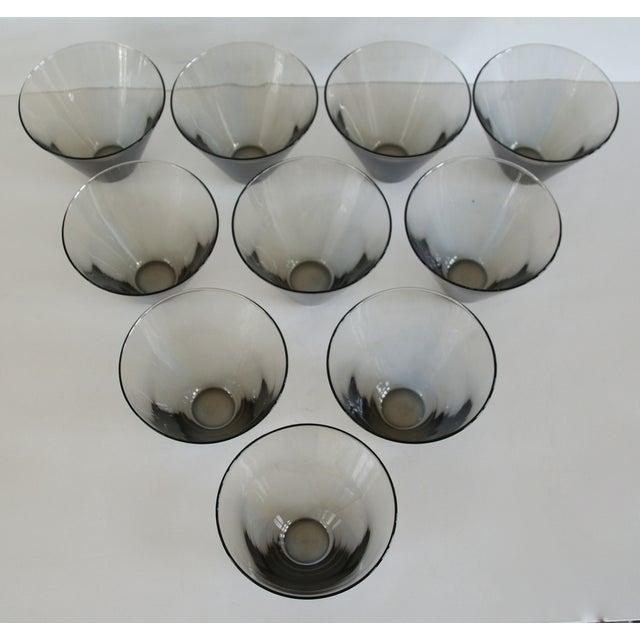 Modern Smoke Gray Cocktail Glasses - Set of 10 - Image 5 of 11