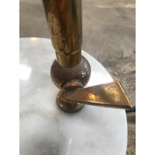 Italian Desk Light Stilux in Marble and Brass, 1950s For Sale - Image 9 of 12