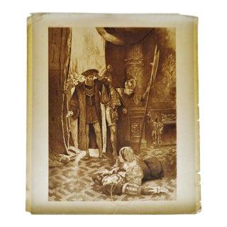 1900 Antique Last Act Last Scene Photogravure by CD Graves Lucrezia Borgia For Sale