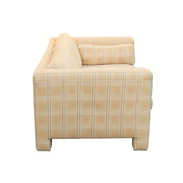 Boho Chic Milo Baughman Designed Mid Century Modern Loveseat by Thayer Coggin For Sale - Image 3 of 7
