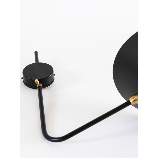 Early 21st Century Single Arm Antony Sconce by Serge Mouille in Black For Sale - Image 5 of 6