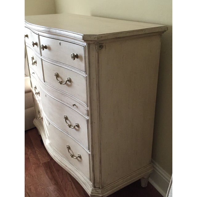 Contemporary Antique White Painted Five Drawer Chest - Image 5 of 6