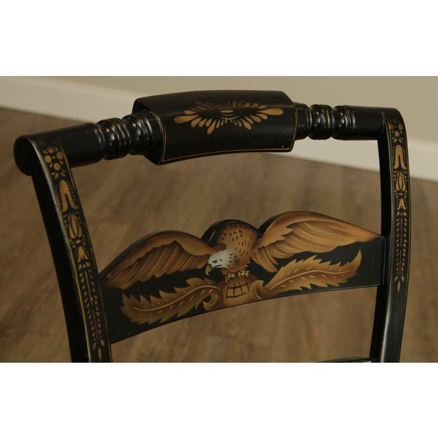 Hitchcock Eagle Painted Black & Maple Side Chair For Sale - Image 11 of 13