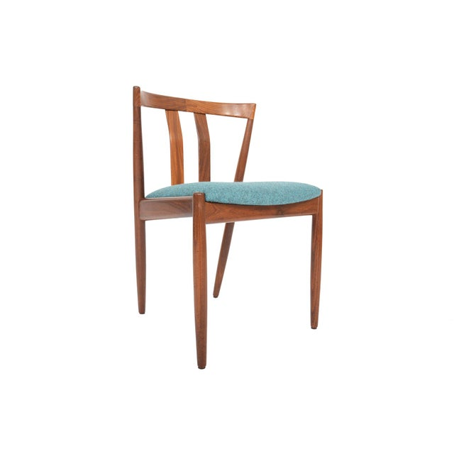 Danish Modern Curved Back Teak Dining Chairs - Set of 6 - Image 4 of 10