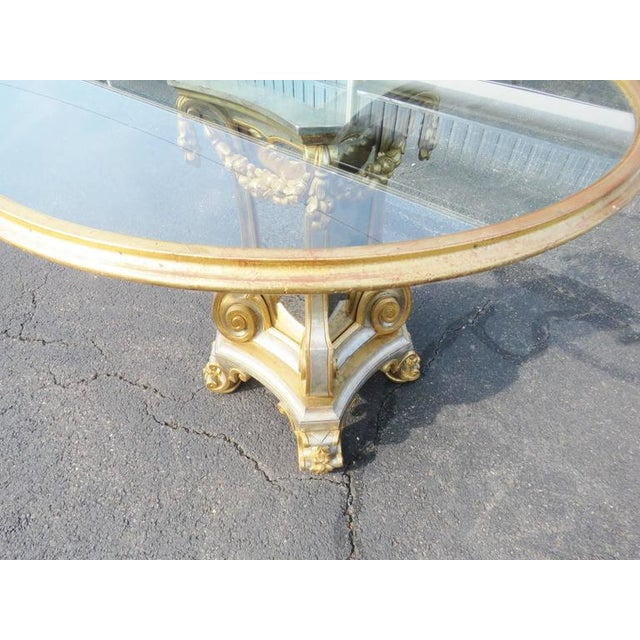 Directoire Style Glass Top Center Table For Sale - Image 4 of 5