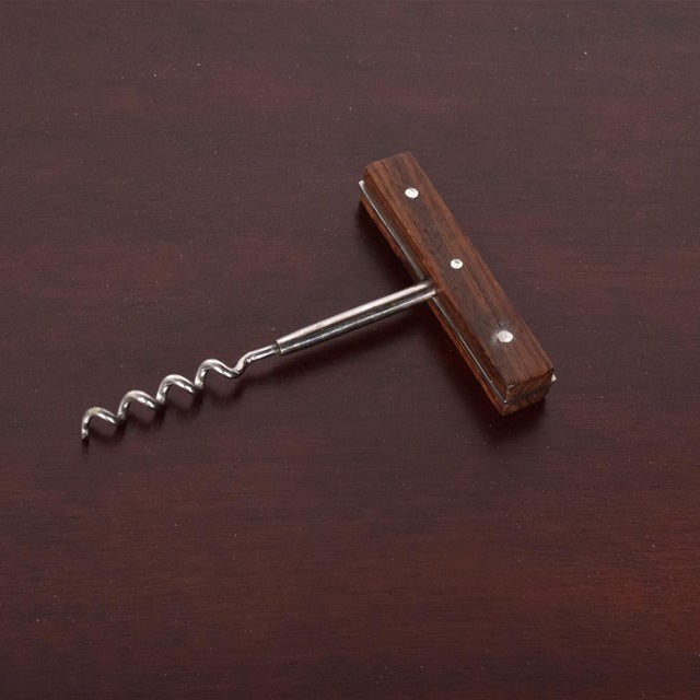 Mid-Century Modern Cork Bottle Opener Rosewood Japan Bar For Sale In San Diego - Image 6 of 11