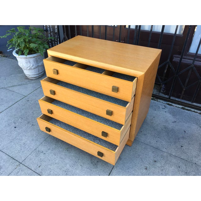 Tan 1940s Art Deco Petite Chest of Drawers For Sale - Image 8 of 13