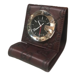 Gucci Limited Edition Brown Travel Desk Alarm Clock For Sale