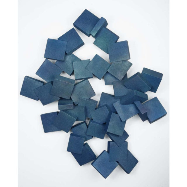 """Abstract """"Sapphire Pyrites"""" Wall Sculpture by Chloe Hedden For Sale - Image 3 of 3"""