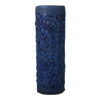 Blue Fat Lava Vase, West Germany, 1960s