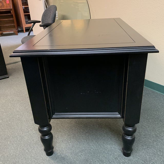 2010s Ballard Designs Traditional 3 Drawer Writing Desk For Sale - Image 5 of 12