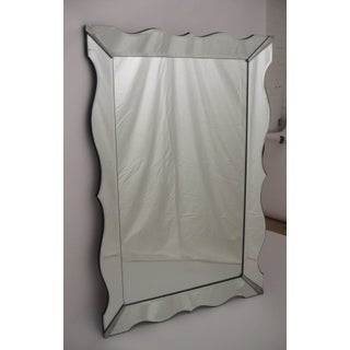 Massive Hollywood Regency Moderne Scalloped Bevelled Mirror Preview