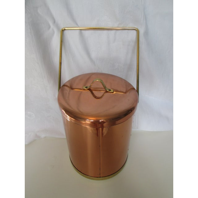 Vintage Coppertone Tall Ice Bucket - Image 7 of 7