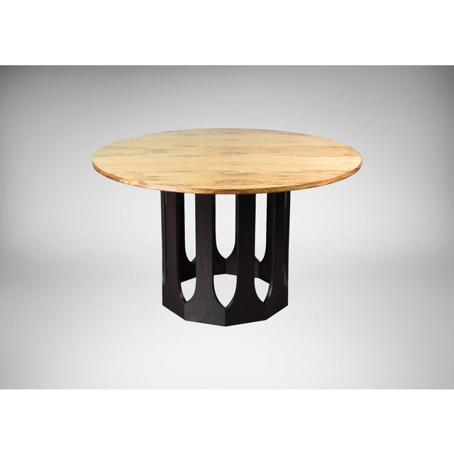 Harvey Probber Bleached Rosewood & Mahogany Dinette Table - Image 2 of 6