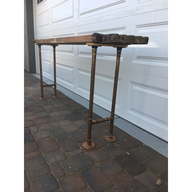 Antique Scaffolding Table For Sale In Phoenix - Image 6 of 11