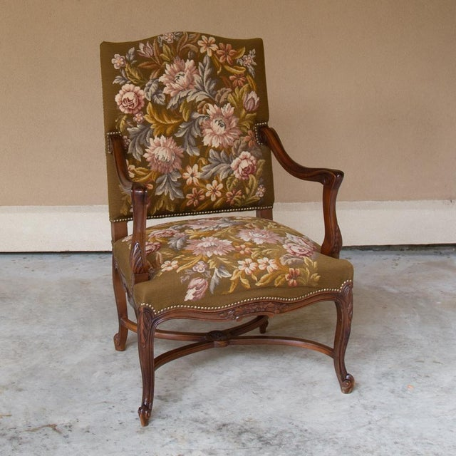 Regarding this particular Antique French Armchair (fauteuil en Francaise), few appreciate the intricate style and...