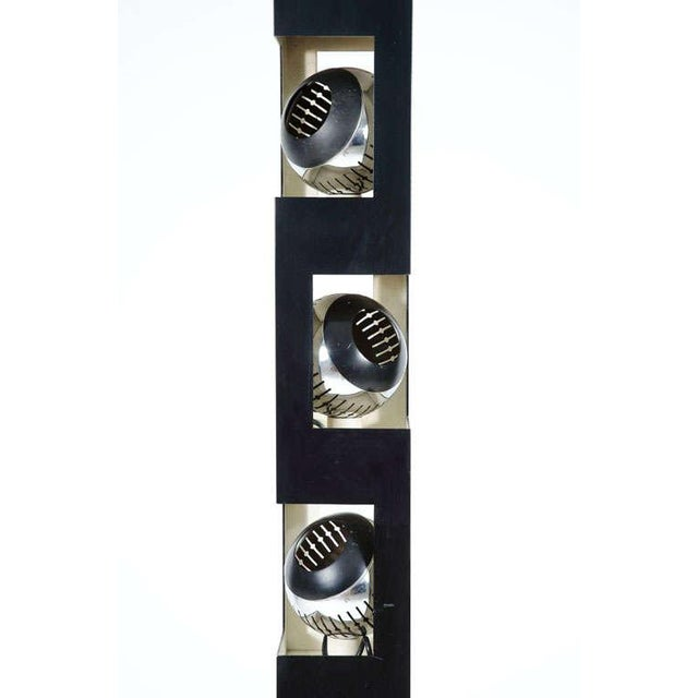 Angelo Lelii Angelo Lelii Triple Header Column Torchiere Floor Lamp For Sale - Image 4 of 7