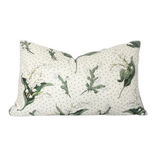 Vintage Lily of the Valley and Shamrock Pillow