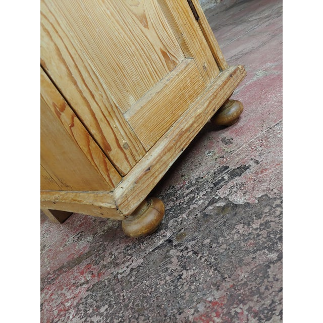Antique Pine Cabinet Stand For Sale In Los Angeles - Image 6 of 10