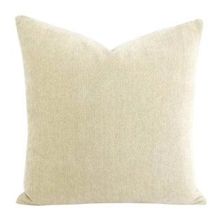 Rogers & Goffigon Posh Electrum Cream Chenille Pillow Cover For Sale