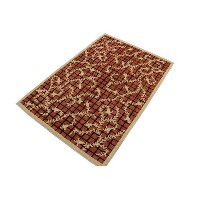 Modern contemporary hand knotted rug made with luxurious wool is a refreshing addition to your décor. Mesmerizing...