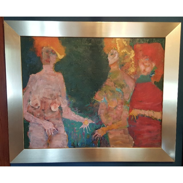 Original oil painting by Martin Sumers. Framed in custom brass frame. Martin Sumers (1922-2012) is arguably one of the...