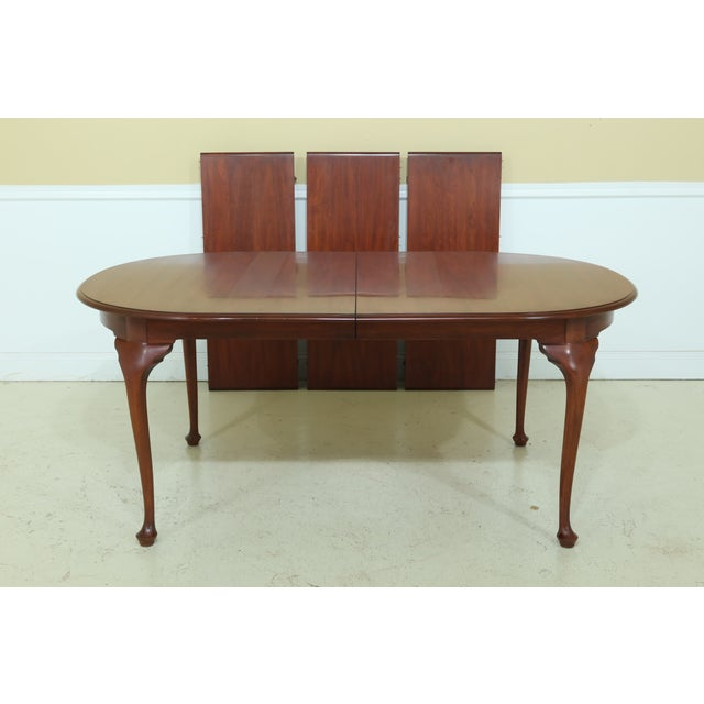 Henkel Harris Oval Cherry Model 2206 Dining Room Table For Sale - Image 12 of 12