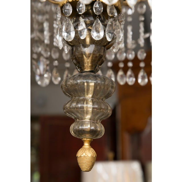 19th Century Gilt Metal and Crystal Baltic Chandelier For Sale In West Palm - Image 6 of 13