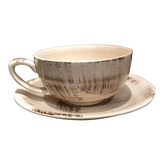 Metlox Barkwood Vernon Ware Tea Cup and Saucer For Sale