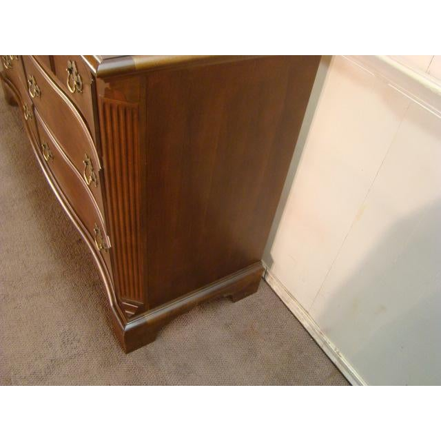 1990s Traditional American Drew Cherry Dresser For Sale - Image 4 of 8