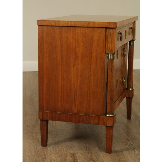 Empire Baker French Empire Style Vintage Walnut Commode Chest of Drawers For Sale - Image 3 of 13