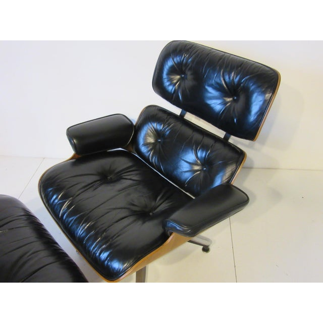 Black Eames 670 Lounge Chair and Ottoman by Herman Miller For Sale - Image 8 of 10