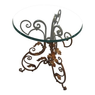 Traditional Sherrill Ornate Lamp Table For Sale