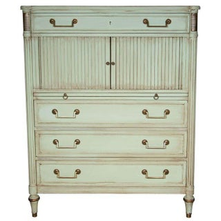 Maison Jansen French Green-Painted Secretary