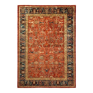 One-Of-A-Kind Oriental Serapi Hand-Knotted Area Rug, Crimson, 5' 8 X 8' 3 For Sale