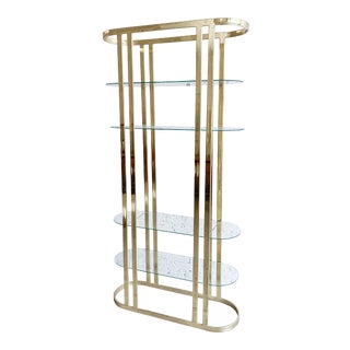 Mid-Century Modern Brass Etagere For Sale